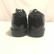 Bates Uniform Footwear Black Dress Shoes Vibram High Gloss Oxford 10 D Military
