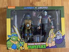 Neca Nickelodeon TMNT Leonardo Vs Shredder Figures Teenage Mutant Ninja Turtles