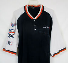 Vtg Le Jean de MARITHE F GIRBAUD Mens 2XL Polo Shirt SS Rugby Yacht Patches
