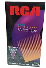 RCA VHS Tapes 6 Pack T-120 6 Hour Premium Hi-Fi Stereo Video Tapes NEW