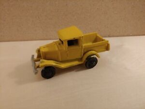 Vintage Cast Iron Yellow Ford Model A Truck Probably Reproduction