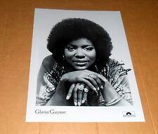Gloria Gaynor *I will Survive*, original signiertes Foto in 20x25 cm