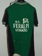 Maillot Vélo Haut Cyclisme Eroica Vintage 70'S Feralpi SANTINI 80% Laine