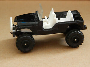 Corgi Juniors ** RARE** Black & White 4x4 Jeep,Good Condition, Made in GB
