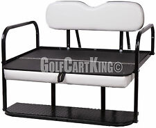 "EZGO Marathon (Pre 1994) Golf Cart ""Classic"" Rear Flip Back Seat Kit Cargo Bed"