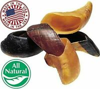 Natural Bulk Cow Hooves for Dogs (100 Pack) - Made in The USA Dog Dental Treats