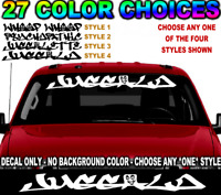 #2 JUGGALO DECAL WINDSHIELD LETTERING JUGGALETTE WHOOP PSYCHOPATHIC STICKER  ICP
