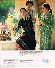 PUBLICITE ADVERTISING 055  1978  JEAN BIOLAY   pret à porter mode