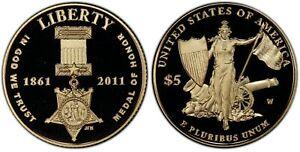 2011-W $5 Medal of Honor PCGS PR69DCAM