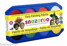 Snazaroo Vernice Viso Palette Kit 8 x 18ml Colori Fancy Dress MAKE UP PER BAMBINI