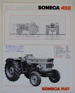 prospectus brochure SOMECA 450  tractor traktor prospekt fiat tracteur dépliant