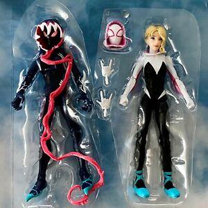 GHOST SPIDER & GWEN STACY Spiderverse Gwenom Marvel Legends no Venompool BAF