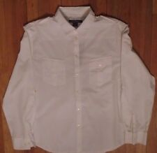 NWT French Connection, White, Military Style, 2 Pocket, Sleeve Tie-Up, XL (508)