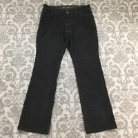 Eddie Bauer Womens Jeans size 6 Gray Curvy Bootcut Cotton Stretch Fine Corduroy