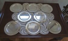 Set of 8 Vintage Wm. A. Rogers Silver-plated Bread and Butter Plates