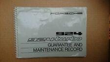 Porsche 924 Turbo Owners & Servicing Drivers Manual Handbook