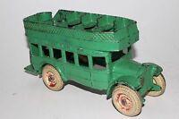1920's Arcade Cast Iron Double Decker Bus, Nice Original