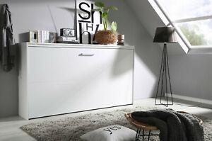 Querklappbett Schrankbett Klappbett Weiß 90cm x 200 cm inkl. Lattenrost