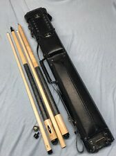 Custom Combo Set, Joss Playing Cue, J&J Jump Break Cue, Leather Cue Case