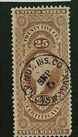 US #R44c w/N. Y. Fire Insurance Co.  Handstamp [Details in Trace]
