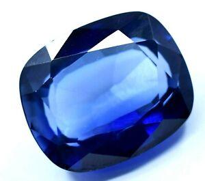 13.55 CT Naturel Royal Saphir Bleu Coussin Superbe Ceylan Gemme Certifié