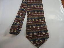 Mens Red Blue Brown Tie Necktie Bellini  ~ FREE US SHIP (5763)