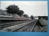 PHOTO  BYNEA RAILWAY STATION  VIEW 1 OF PLATFORMS (BUILDINGS DEMOLISHED) IN 1976