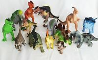 Lot of 14 Toy Dinosaurs Animals Figures Plastic