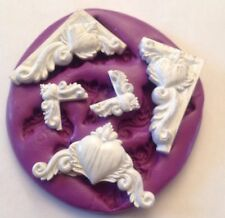 silicone mould Heart Corners ( Dolls House Topper Cake Plaster Cupcake