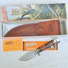 MARBLE'S USA-made 2002 TRAILCRAFT knife , original leather sheath; mint NIB