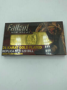Fallout: New Vegas Limited Edition 24K Gold Plated Replica NCR $20 Bill