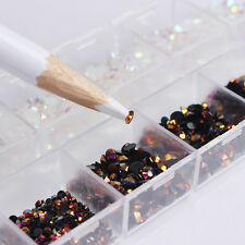 Nail Rhinestones Mixed Color Jelly 3D Nail Art Decoration W/ Dotting Pen Tool