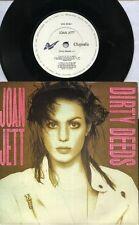 "JOAN JETT  Rare 1990 UK Only 7"" OOP Chrysalis Hard Rock P/C Single ""Dirty Deeds"""