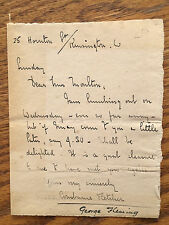 Rare autograph note signed by CONSTANCE FLETCHER aka GEORGE FLEMING