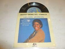 "MICHAEL JACKSON - Greatest Original Hits - 4 Track E.P. - 1982 UK Epic label 7"""