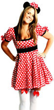 Womens Minnie Mouse Fairy Tale Ladies Fancy Dress Costume Size 6 - 8