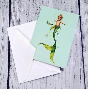 PATIENCE BREWSTER Mini Card Mermaid Greeting Card NEW