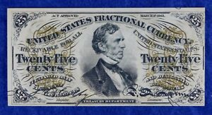 1863 Fractional Currency 25c Banknote