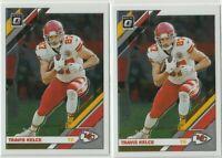 2019 DONRUSS OPTIC Travis Kelce Kansas City Chiefs 2 CARD LOT
