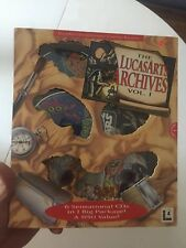 Lucasarts Archives Volume Vol 1 PC Sam & Max Maniac Mansion Day Tentacle Indy +