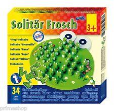 Solitär Frosch handbemalt Holz ca. 22 x 20 x 4,5 cm Neu