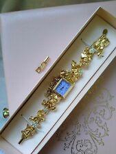 Kirks Folly Vintage Jewelry Gold Toned Watch 7 Angels Watch & Bracelet Set