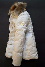 Canadiens ITALY QUALITY WARM WINTER PUFFER DOWN JACKET COAT RABBIT FUR I42 F38