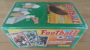 1990 Panini NFL Football Factory Sealed Sticker Box 100 Packs