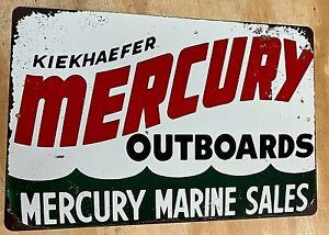 "Mercury Outboard Motor Marine Sales 12"" x 18"" Metal Tin Aluminum Sign"