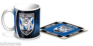 NRL Canterbury Bulldogs Coffee Mug / Coffee Cup & Cork Coaster Gift Set