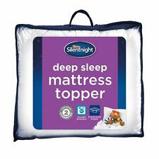 Mattress Topper MemoryFoam Silentnight DeepSleep Matress Machine Washable Double