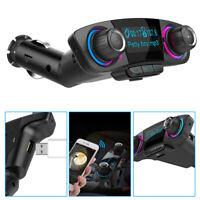 Car Kits Handsfree Wireless Bluetooth FM Transmitter LCD MP3 Player USB Charger