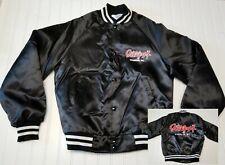 Vintage Gilley's Branson Missouri Black Satin Snap quilt Jacket Coat Adult Small