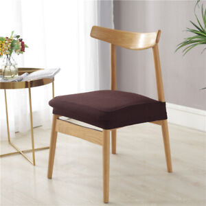 2/4/6pcs Waterproof Stretch Dining Chair Cover Jacquard Seat Protector Covers